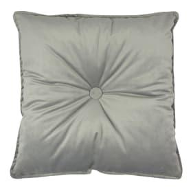 Подушка Бархат 43х43 см серая
