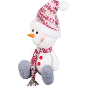 Декоративная фигура «Снеговик в шапке и шарфе», 20 см