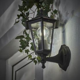 Настенный светильник уличный вверх Inspire Peterburg 1xE27х60 Вт, алюминий/стекло, цвет чёрный