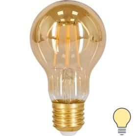 Лампа филаментная Gauss A60 Golden E27 220 В 4.5 Вт 300 лм, теплый белый свет