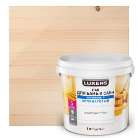 Лак для бань и саун водный Luxens цвет прозрачный полуматовый 1 л