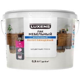 Лак для мебели Luxens акриловый бесцветный полуглянцевый 0.9 л