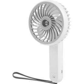 Вентилятор портативный ручной, ø11 см 3 Вт, батарейки/USB, Handy Equation