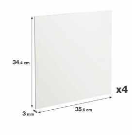 Задняя стенка Spaceo Kub 35.6x34.4 см, МДФ, цвет белый