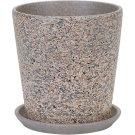 Горшок цветочный «Лунный камень» №3, ø15 см, 1.5 л, керамика, цвет бежевый