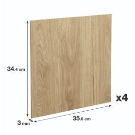 Задняя стенка Spaceo Kub 35.6x34.4 см, МДФ, цвет дуб