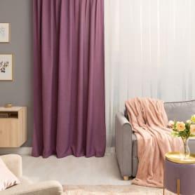 Штора на ленте со скрытыми петлями Looks Violet 200x260 см цвет фиолетовый