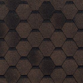 Черепица гибкая Mida Прима коричневый 3 м²