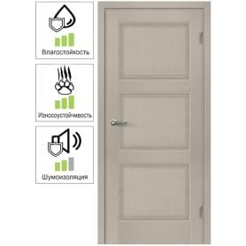 Дверь межкомнатная Трилло глухая Hardflex цвет ясень 60x200 см (с замком и петлями)
