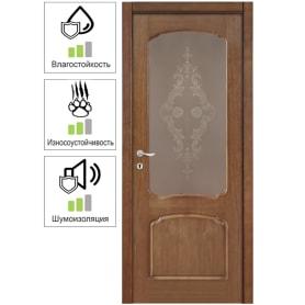 Дверь межкомнатная Helly остеклённая 60x200 см шпон натуральный цвет тонированный дуб