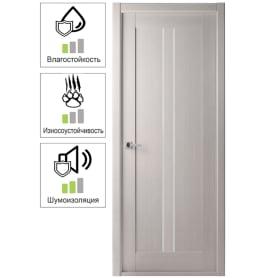Дверь межкомнатная Челси глухая ламинация цвет ясень скандинавский 80x200 см