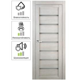 Дверь межкомнатная Лайн глухая ламинация цвет дуб бриг 80x200 см