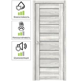Дверь межкомнатная Сохо 8 остеклённая ПВХ цвет светлый клён 60х200 см (с замком и петлями)
