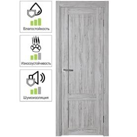 Дверь межкомнатная Рустик глухая ПВХ цвет северная сосна 60x200 см (с замком и петлями)