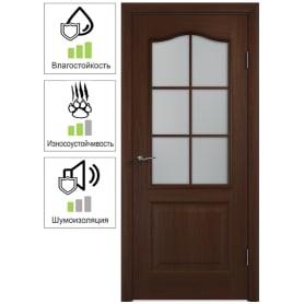 Дверь межкомнатная Антик остеклённая ПВХ цвет итальянский орех 80x200 см