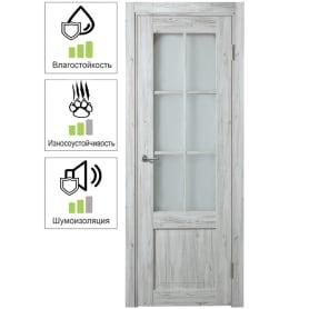 Дверь межкомнатная Рустик остеклённая ПВХ цвет северная сосна 90x200 см (с замком и петлями)