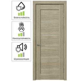 Дверь межкомнатная Дельта горизонтальная остеклённая ПВХ цвет ольха серебряная 60x200 см (с замком и петлями)