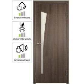 Дверь межкомнатная Белеза остеклённая ламинация цвет дуб тёрнер коричневый 60x200 см