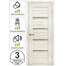 Дверь межкомнатная Artens Брио глухая ПВХ цвет дуб филадельфия 80x200 см (с замком и петлями)