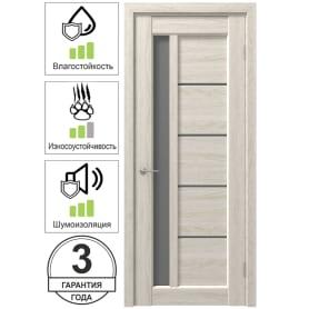 Дверь межкомнатная Artens Брио остеклённая 80x200 см ПВХ цвет дуб филадельфия (с замком и петлями)