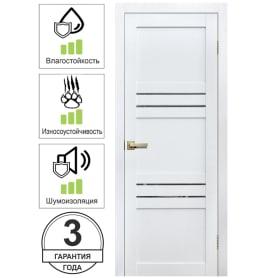 Дверь межкомнатная Artens Флай глухая Hardflex цвет белый 60x200 см (с замком и петлями)