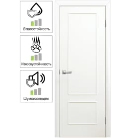 Дверь межкомнатная Классика глухая ламинация цвет белый 60x200 см