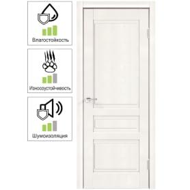 Дверь межкомнатная Летиция глухая ПВХ цвет дуб пломбир 70x200 см (с замком и петлями)