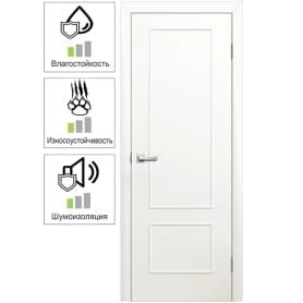 Дверь межкомнатная Классика глухая ламинация цвет белый 90x200 см