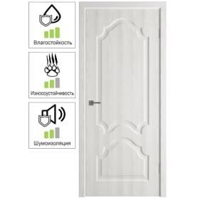 Дверь межкомнатная Венеция глухая ПВХ цвет белёный дуб 80x200 см (с замком и петлями)
