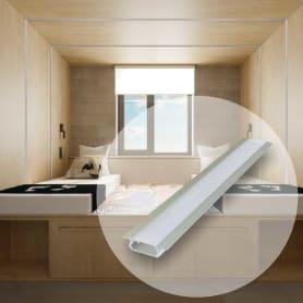 Профиль для светодиодной ленты врезной 6 мм 2 пог. м