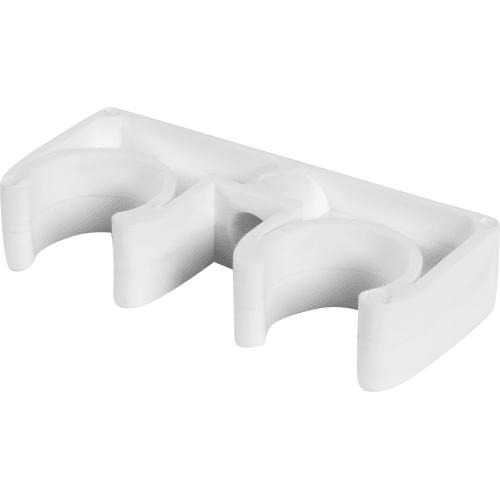 Крепеж двойной, для полипропиленовой трубы, 20 мм