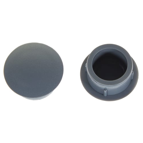 заглушка для дверных коробок 14 мм полиэтилен цвет серый 20 шт