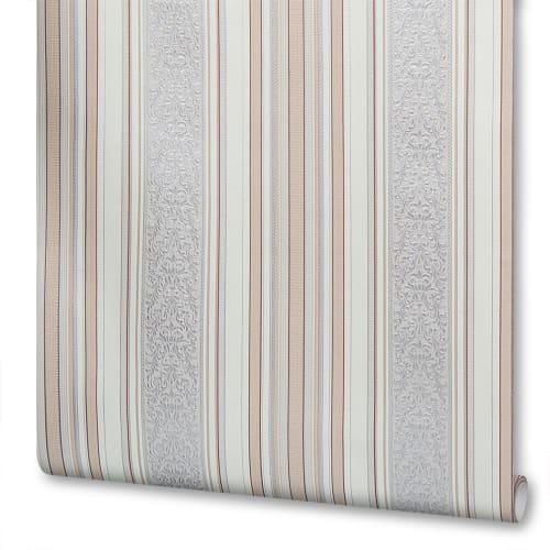 3c32c01fc2b Обои бумажные Роксана 07 0.53х10 м полосы цвет серо-персиковый в Москве –  купить по низкой цене в интернет-магазине Леруа Мерлен