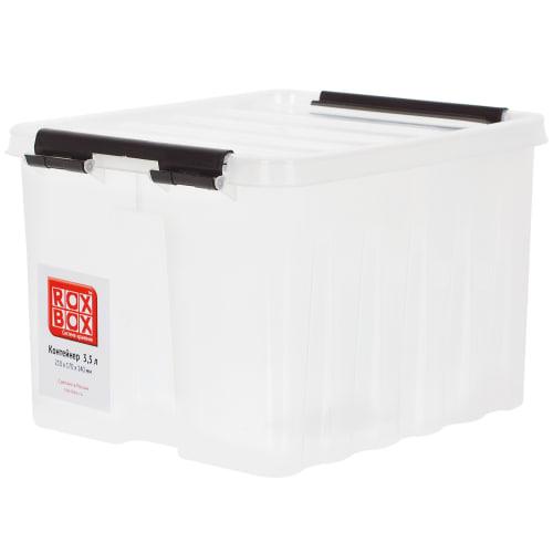 2d4796f99 Контейнер Rox Box с крышкой 17x14x21 см, 3.5 л, пластик цвет прозрачный в  Челябинске – купить по низкой цене в интернет-магазине Леруа Мерлен