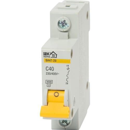 Выключатель автоматический IEK Home В А47-29 1 полюс 40 А