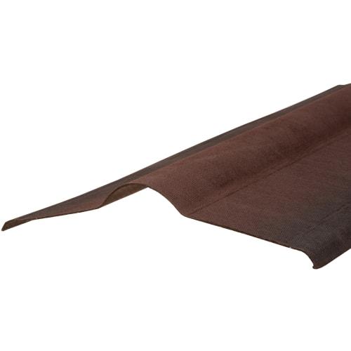 Конек-черепица ондулин цвет коричневый