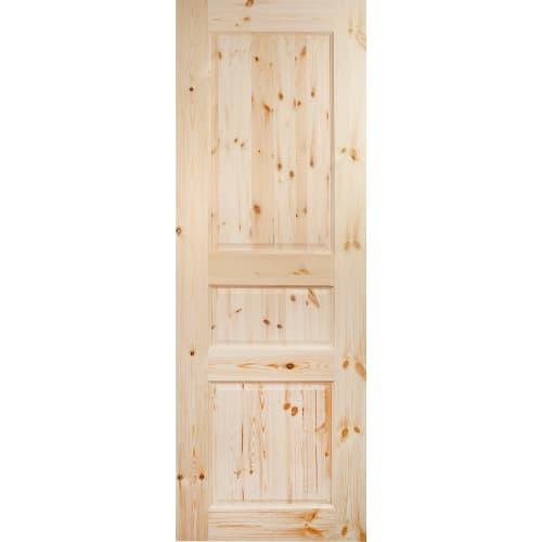 Дверь межкомнатная глухая, 3 филёнки, 70x200 см, массив сосны, цвет бежевый