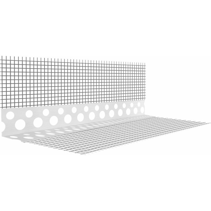 Профиль углозащитный штукатурный Classic/Крепикс 1300 80x120 мм 2.5 м сетка