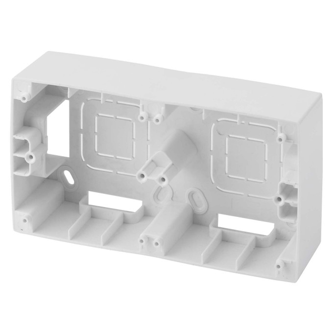 Коробка накладного монтажа Эра 12 2 поста белый