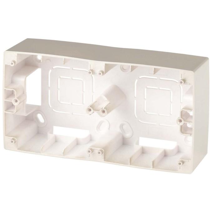 Коробка накладного монтажа Эра 12 2 поста шампань