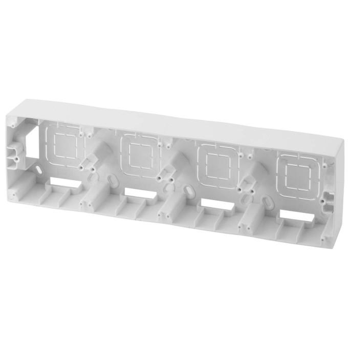 Коробка накладного монтажа Эра 12 4 поста белый