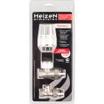 """Термостатический комплект Heizen для радиатора прямой 1/2"""" белый"""