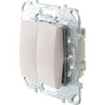 Выключатель двухклавишный в рамку Schneider Electric Unica белый MGU5.211.18ZD