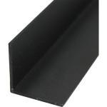 Уголок алюминиевый 20х20х1х2000 мм черный муар