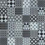 Мозаика Artens Shaker черно-белая 300х300х8 мм 0.09 м2
