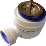 Сифон для душевого поддона VirPlast с нержавеющей чашкой D 70 мм 30980686