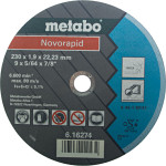 Круг отрезной по металлу Metabo Novorapid A46T Inox 230х1.9 мм тип 41 617021000