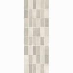 Настенная плитка панно мозаика LB Ceramics FIORI GRIGIO светло-серая 200х600х9 мм 0.84 м2