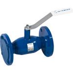 Кран шаровой Temper 28420150 стандартнопроходной с фланцем для установки привода DN150 PN25 125 мм
