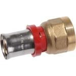 """Пресс патрубок TeRma 02006 d 16 мм х 1/2"""" внутренняя резьба красное кольцо"""